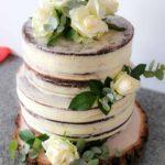 """Naked Cake - Tort """"nagi"""" z kwiatami"""