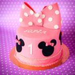 Tort urodzinowy z kokardą, Myszka Miki