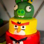 """Tort urodzinowy """"Angry Birds"""""""