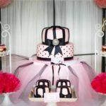 Tort okolicznościowy #różowy #kokarda #róż